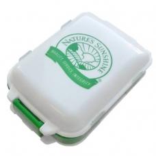 Таблетница (бело-зеленая) с логотипом NSP